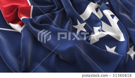 French Southern Flag Ruffled Beautifully Waving 31360818