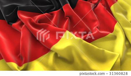 Germany Flag Ruffled Beautifully Waving 31360828