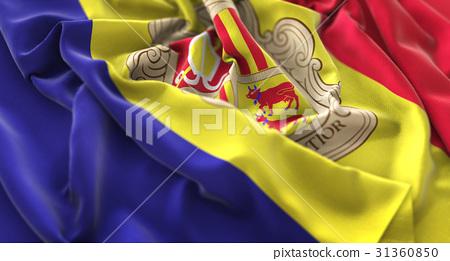Andorra Flag Ruffled Beautifully Waving 31360850