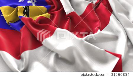 Herm Flag Ruffled Beautifully Waving 31360854
