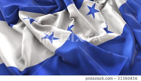 Honduras Flag Ruffled Beautifully Waving 31360856