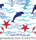 sea, illustration, vector 31361755