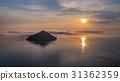 kinira island in sunrise, Greece 31362359