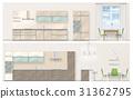 vector, kitchen, interior 31362795