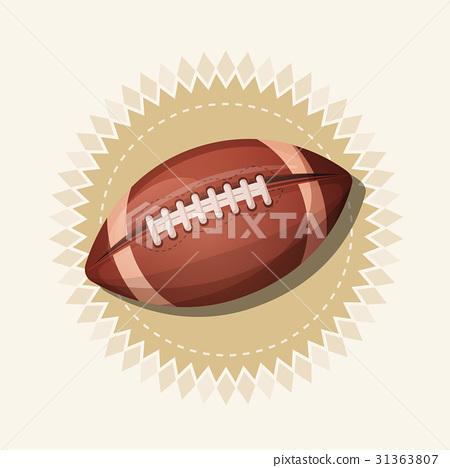 American Football Retro Banner 31363807