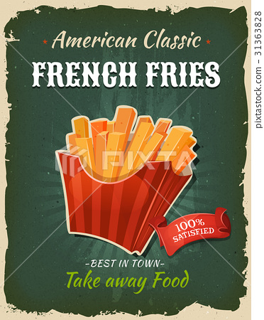 Retro Fast Food French Fries Poster 31363828
