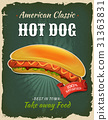 hot-dog, fast-food, poster 31363831