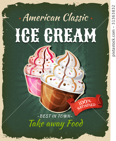 Retro Fast Food Ice Cream Poster 31363832