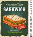 sandwich, bread, food 31363834
