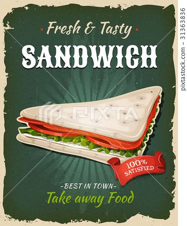 Retro Fast Food Swedish Sandwich Poster 31363836