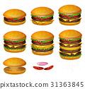 burger, hamburger, cheeseburger 31363845