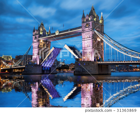 Tower Bridge with open gate in London, England, UK 31363869