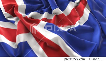 Iceland Flag Ruffled Beautifully Waving 31365436