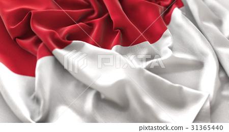 Indonesia Flag Ruffled Beautifully Waving 31365440