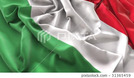 Italy Flag Ruffled Beautifully Waving 31365459