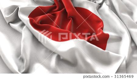 Japan Flag Ruffled Beautifully Waving 31365469
