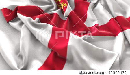 Jersey Flag Ruffled Beautifully Waving 31365472