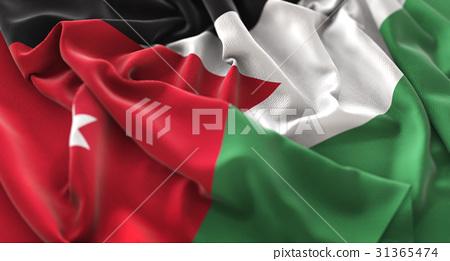 Jordan Flag Ruffled Beautifully Waving 31365474