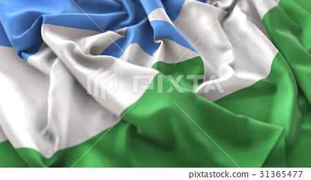 Kabardino-Balkaria Flag Ruffled Beautifully 31365477