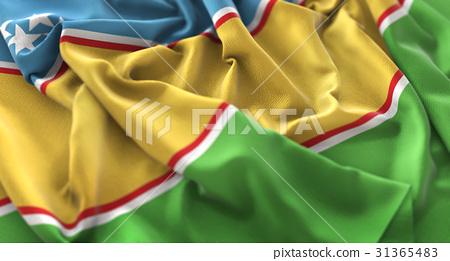 Karakalpakstan Flag Ruffled Beautifully Waving 31365483
