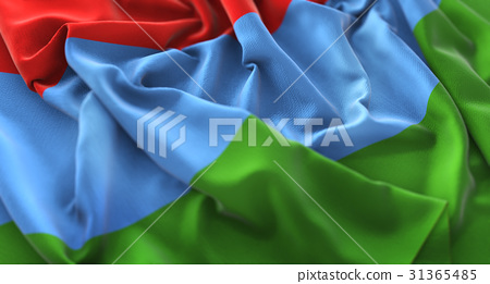 Karelia Flag Ruffled Beautifully Waving 31365485