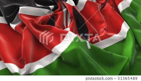 Kenya Flag Ruffled Beautifully Waving Macro 31365489