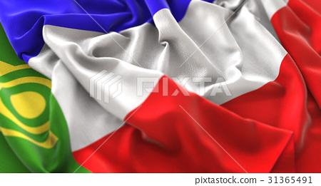 Khakassia Flag Ruffled Beautifully Waving 31365491