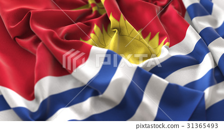 Kiribati Flag Ruffled Beautifully Waving 31365493