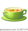 Soup in green bowl 31367174