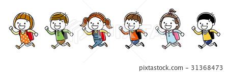孩子:跑步和上學 31368473