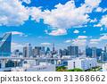 """""""東京都""""白雲和城市景觀""""初夏"""" 31368662"""