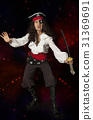 Pirate man on a colorful background 31369691