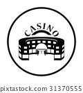 Casino building icon 31370555
