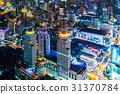 大廈的夜視圖曼谷,泰國首都 31370784