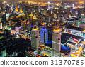 大廈的夜視圖曼谷,泰國首都 31370785