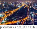 夜高速公路在泰國首都曼谷 31371163