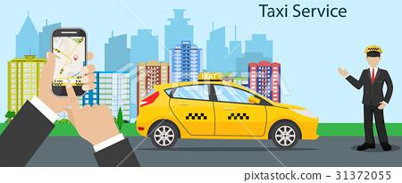 Taxi driver  yellow taxi - Stock Illustration [31372055] - PIXTA