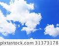 blue sky, cloud, clouds 31373178