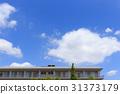 blue sky, cloud, clouds 31373179