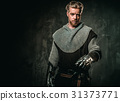 Medieval knight with sword and armour 31373771