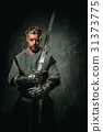 Medieval knight with sword and armour 31373775