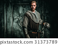Medieval knight with sword and armour 31373789