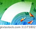 배경, 금붕어, 일본풍 무늬 31373802