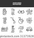 hawaii, tropical, vector 31373928