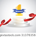 winner, vector, ribbon 31376356
