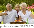 park, grandparent, grandchild 31376375