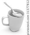 Mug and spoon 31377812