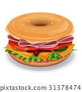 bagel, sandwich, bread 31378474