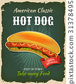 hot-dog, sausage, poster 31378495
