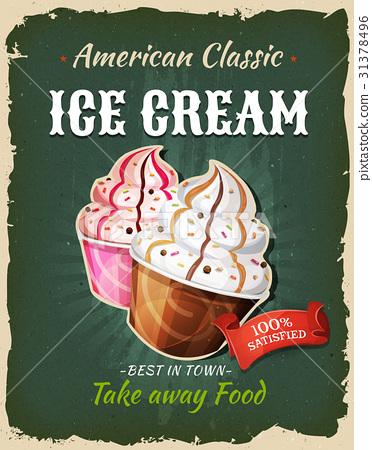 Retro Fast Food Ice Cream Poster 31378496